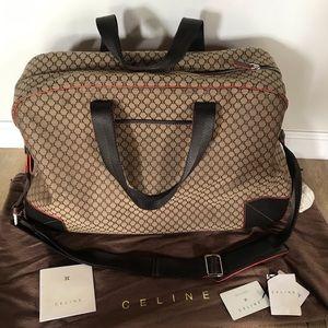 Celine Fabric Weekend Bowler Bag Large